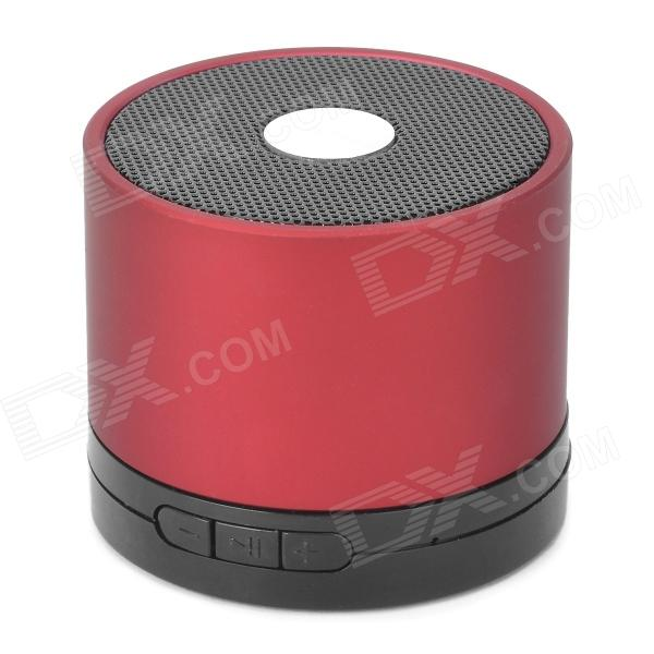 Rechargeable Bluetooth v2.1 Stereo Multi-Media Speaker w/ TF - Red + Black