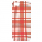 Checkered Figure Pattern Protective ABS Back Case for iPhone 5 - Orange + White