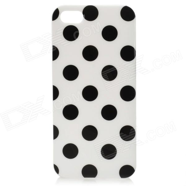 Polka Dot Pattern Protective TPU Back Case for Iphone 5 - Black holes pattern protective tpu back case for iphone 6 plus 5 5 yellow