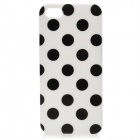 Polka Dot Pattern Protective TPU Back Case for Iphone 5 - Black