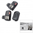 3-in-1 Speed Lite Trigger Hot Shoe Flash Wireless Transmitter + Receiver Set - Black