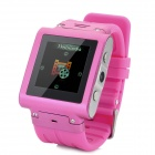 "W838 GSM Watch Phone w/ 1.5"" Resistive Screen, Quad-Band, FM and Micro-SIM - Deep Pink"