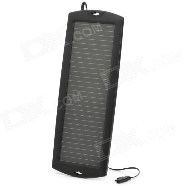 1.5W Solar Powered Auto Car Battery Charger - Black