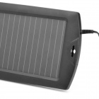 1.5W Solar Powered Car Auto Cargador de batería - Negro