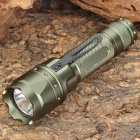 008 180lm 1-Mode White Light Flashlight - Green (2 x 16340)
