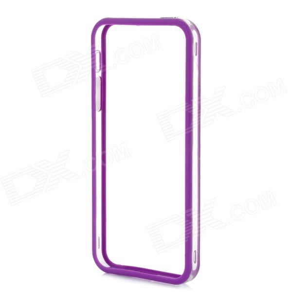 Protective PVC + TPU Bumper Frame for Iphone 5 - Purple viruses cell transformation and cancer 5
