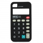 Unique Calculator Style Protective Silicone Back Case for Iphone 4 / 4S - Black