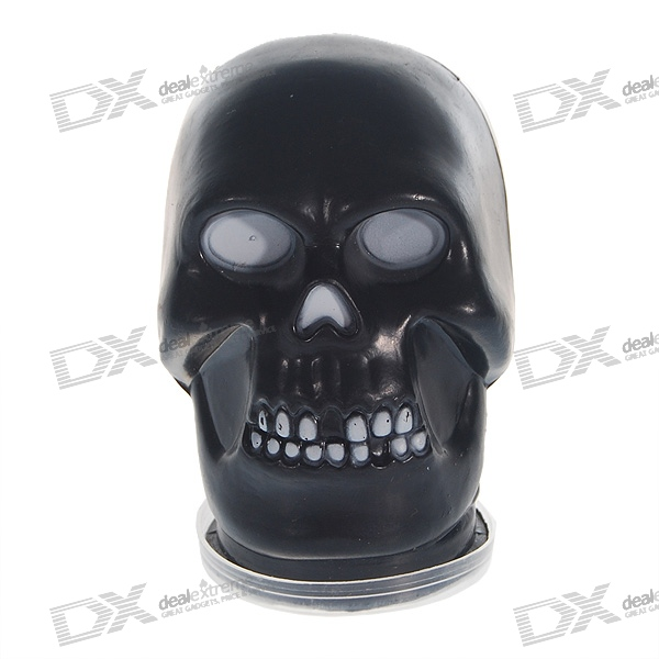 Skull with Scary and Disgusting Liquid-Like Gel