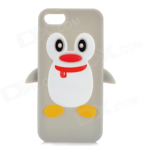 Protective Penguin Style Silicone Back Case for Iphone 5 - Grey