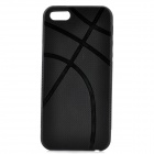 Protective TPU Basketball Vein Back Case Cover for Iphone 5 - Black