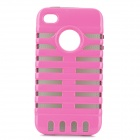 New Dual Protection Frame Cover Case für iPhone 4 / 4S - Pink + Black