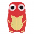 Protective 3D Turtle Style Silicone Case Cover for Iphone 4 / 4S - Red