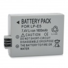 RuiBo Replacement LP-E5 7.4V 1600mAh Battery Pack for Canon 500D / 450D / 1000D + More - Grey