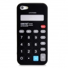 Unique Calculator Style Protective Silicone Back Case for Iphone 5 - Black