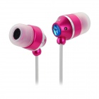Kaerni KE-108 In-Ear-Kopfhörer für iPod / iPhone + More - Deep Pink + White (3,5 mm Klinkenstecker / 127cm)