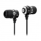 Kaerni KE-107 In-Ear-Kopfhörer für iPod / iPhone + More - Black (3,5 mm Klinkenstecker / 127cm)