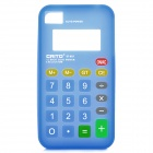 Unique Calculator Style Protective Silicone Back Case for Iphone 4 / 4S - Blue