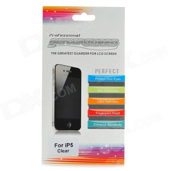 Protective Glossy Screen Protector Guard Set for Iphone 5 protective glossy lcd screen protectors set for iphone 5 transparent 10pcs