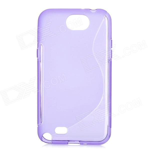 Protective TPU + PVC Back Case for Samsung Galaxy Note 2 / N7100 - Purple protective tpu back case for samsung galaxy note 2 n7100 white