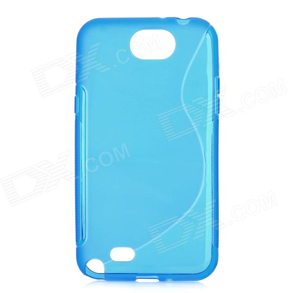 Protective TPU + PVC Back Case for Samsung Galaxy Note 2 / N7100 - Light Blue protective tpu back case for samsung galaxy note 2 n7100 white