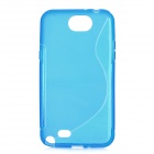 Protective TPU + PVC Back Case for Samsung Galaxy Note 2 / N7100 - Light Blue