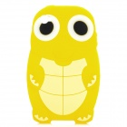 Cute Cartoon Turtle Style Protective Silicone Back Case for Iphone 4 / 4S - Yellow