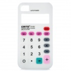 Unique Calculator Style Protective Silicone Back Case for iPhone 4 / 4S - White