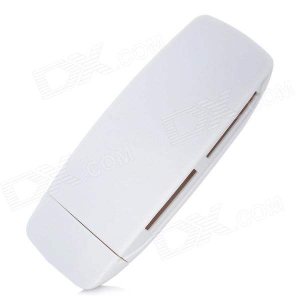 CR806 High Speed USB 3.0 SD / TF / SDHC / SDXC / CF / MS Card Reader Adapter - White ssk scrm056 usb 3 0 5gbps high speed multifunctional card reader white silver grey max 64gb