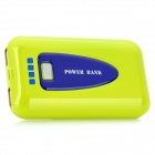 S-MP1 8400mAh Portable Emergency Power Battery Pack mit LED-Leuchte / Adapter - Bright Yellow