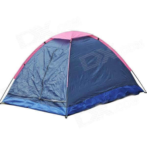 Portable Two-Person Camping Tent w/ Carrying Bag - Blue