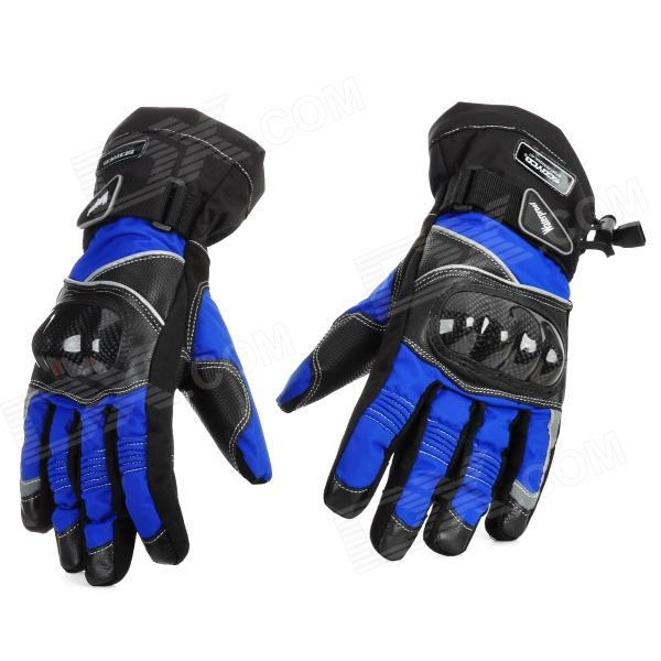 Scoyco MC15B-L Full-Fingers Motorcycle Racing Gloves - Blue + Black (Pair / Size L)