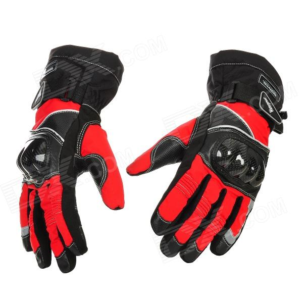 Scoyco MC15B-L Full-Fingers Motorcycle Racing Gloves - Red + Black (Pair / Size L)