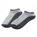 Cotton Blends Sport Ankle Socks for Men - Grey + White + Black (12 Pairs / Free Size)
