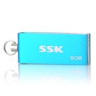SSK SFD042 Rotation USB 2.0 Flash Drive - Blue + Silver (8GB)