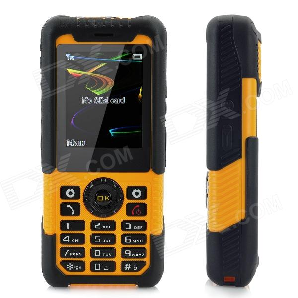 "LM-801 Ultra-Rugged Waterproof GSM Phone w/ 2.0"" LCD, Dual-Band, Torch and Laser Pointer - Orange"