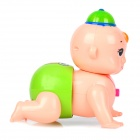 Cute Crawling Wiggle Buttock Baby Toy with Music (3 x AAA)