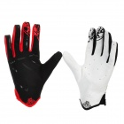 Scoyco MX46-L Full-Fingers Motorcycle Racing Gloves - White + Red + Black (Pair / Size L)