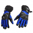 Scoyco MC15B-XL Full-Fingers Motorcycle Racing Gloves - Blue + Black (Pair / Size XL)