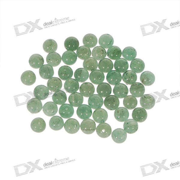 Natural Translucent DIY Jade Beads (50-Pack)