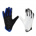 Scoyco MX46-XL Full-Fingers Motorcycle Racing Gloves - White + Blue + Black (Pair / Size XL)