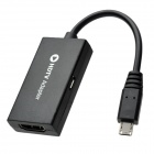 Micro USB Male to HDMI Female MHL Adapter Cable for Samsung Galaxy S3 i9300 - Black