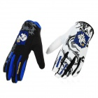 Scoyco MX46-L Full-Fingers Motorcycle Racing Gloves - White + Blue + Black (Pair / Size L)