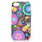 Protective Silicone Back Case w/ Front Screen Protector for Iphone 5 - Multicolored