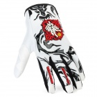 Scoyco MX46-XL Full-Fingers Motorcycle Racing Gloves - White + Red + Black (Pair / Size XL)