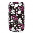 Cute Skull Style Protective Back Case for Samsung Galaxy S3 i9300 - Black + White