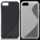Fashion Protective PVC Back Case for Iphone 5 - Black + White (2 PCS)