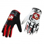 Scoyco MX46-XXL Full-Fingers Motorcycle Racing Gloves - White + Red + Black (Pair / Size XXL)