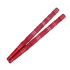DIY Motorcycle Aluminum Long Rocket Screw Caps - Red (2 PCS)