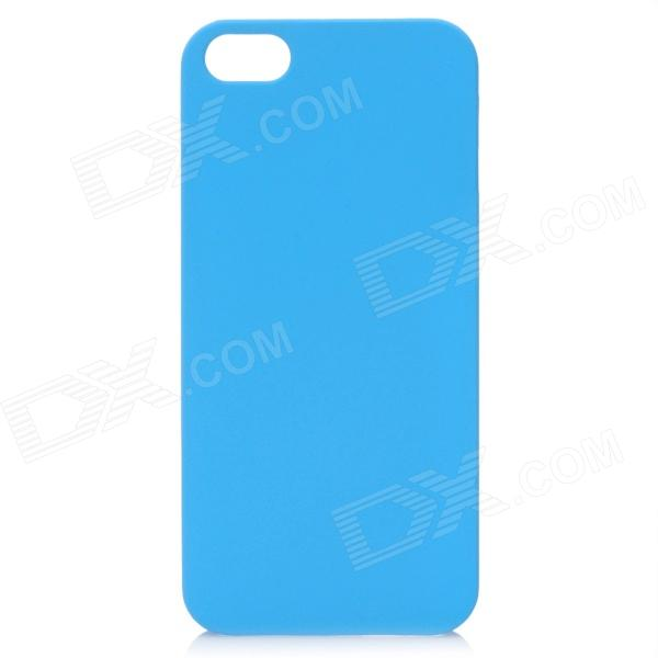 Fashion Protective Matte PC Back Case for Iphone 5 - Light Blue nillkin protective matte plastic back case w screen protector for iphone 6 4 7 golden