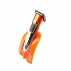 Dingling EF607 Rechargeable Hair Clipper Trimmer w/ Accessories Set - Black + Orange (AC 220)